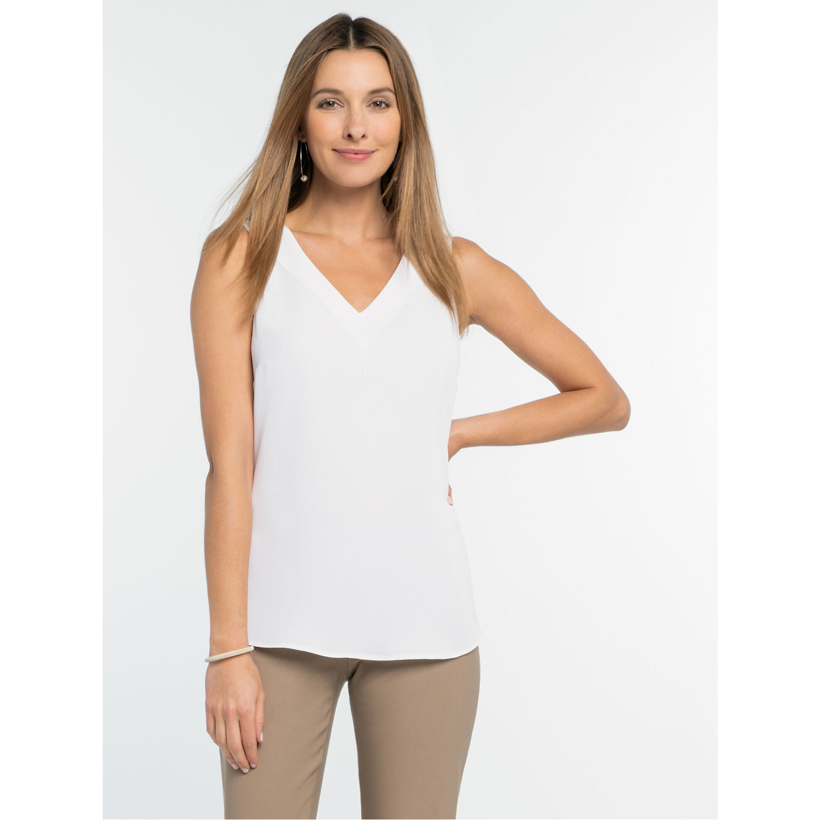 Nic+Zoe Impression Tank in Paper White