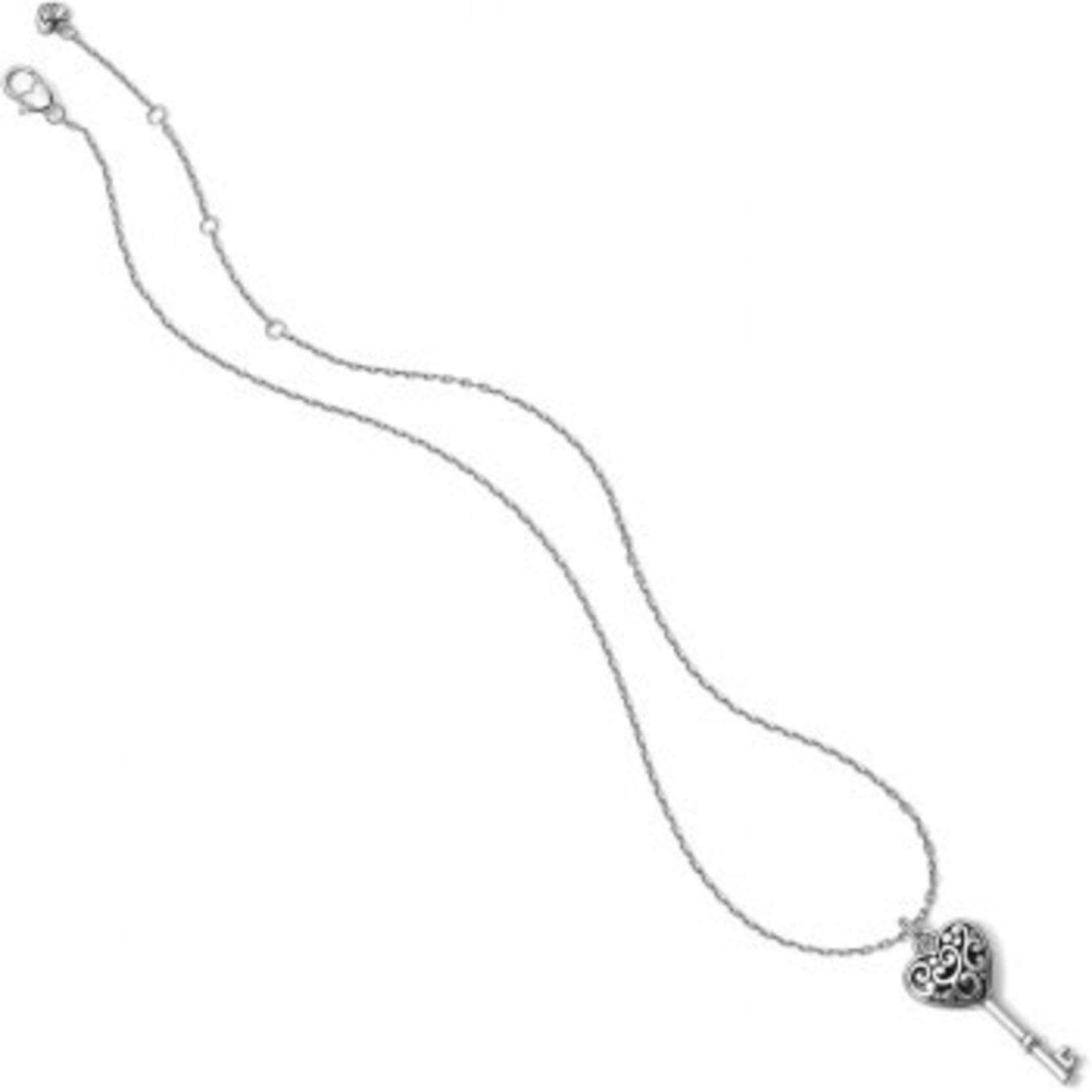 Brighton Contempo Heart Key Necklace
