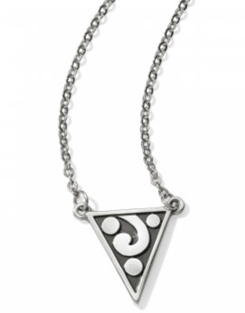Brighton Contempo Ice Reversible Petite Triangle Necklace