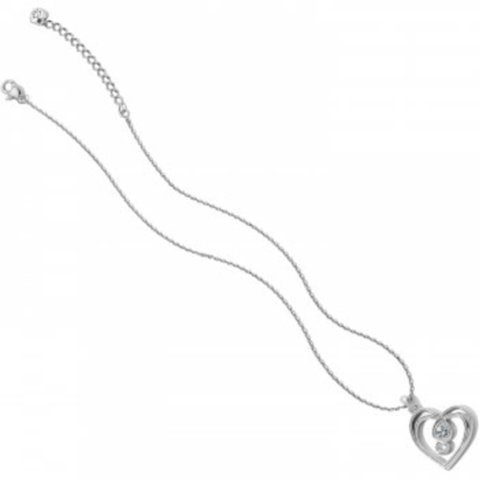 Brighton Infinity Sparkle Petite Heart Necklace