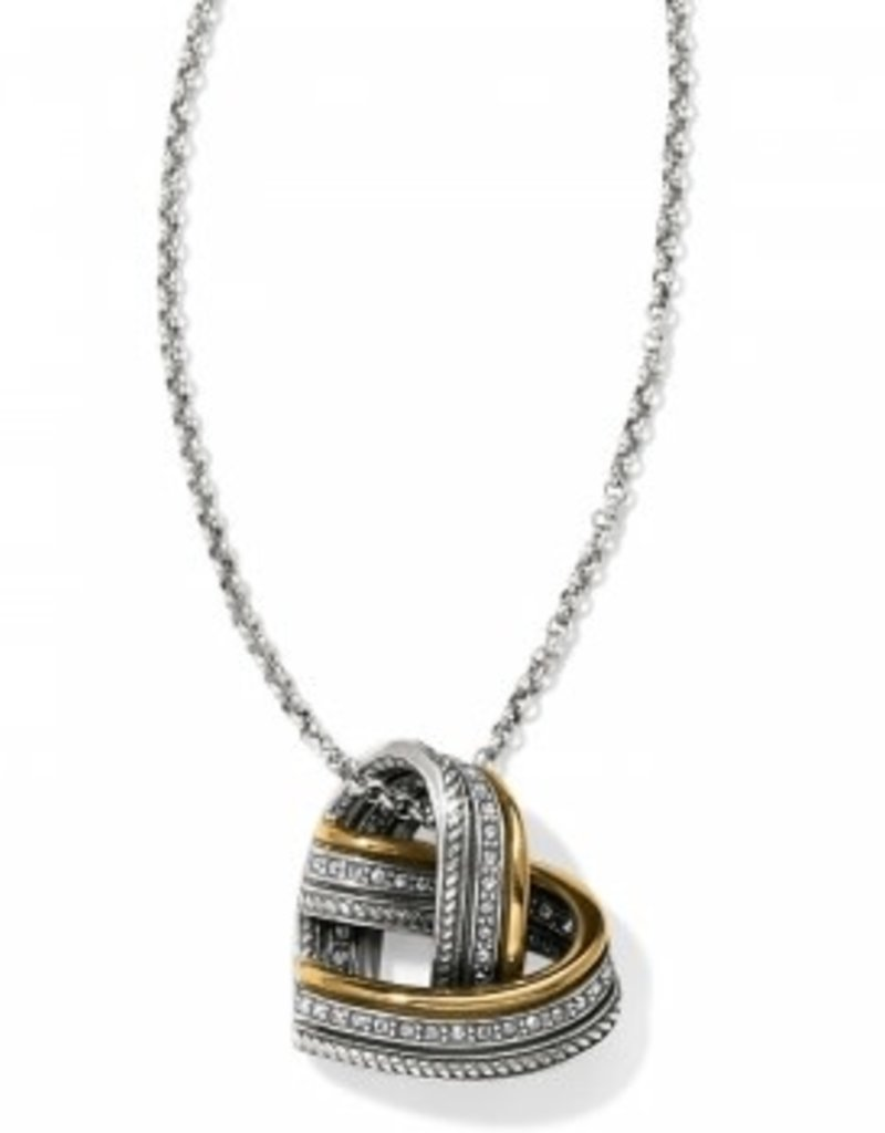 Brighton Neptune's Rings Woven Heart Necklace