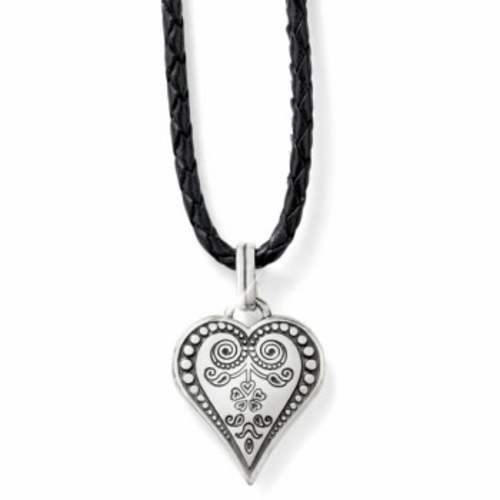 Brighton Ophelia Heart Leather Necklace