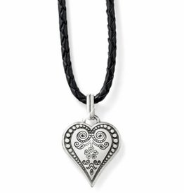 Brighton Ophelia Heart Leather Necklace