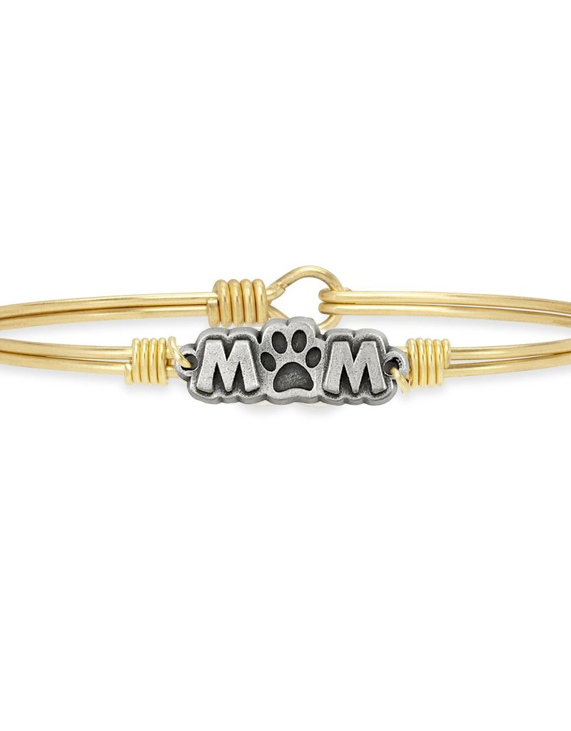 Luca+Danni Fur Mom Bangle Bracelet in Brass/Petite