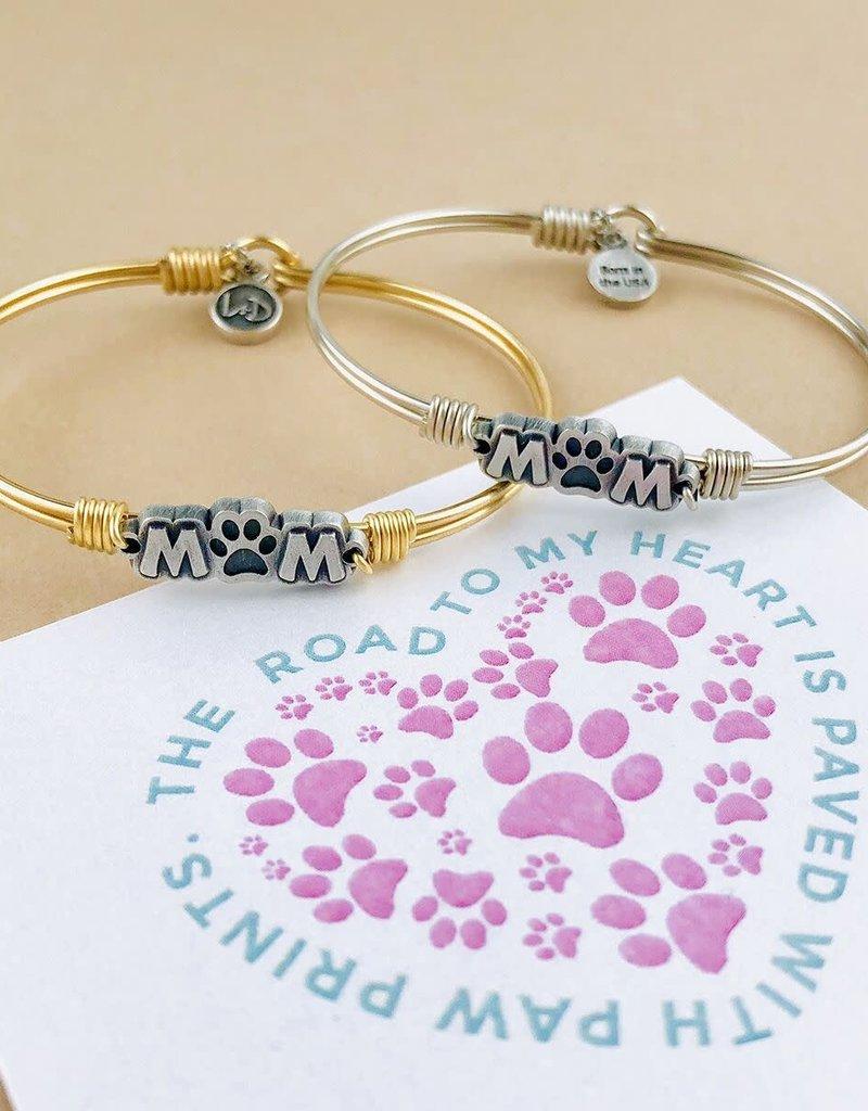 Luca+Danni Fur Mom Bangle Bracelet in Silver Tone/Regular