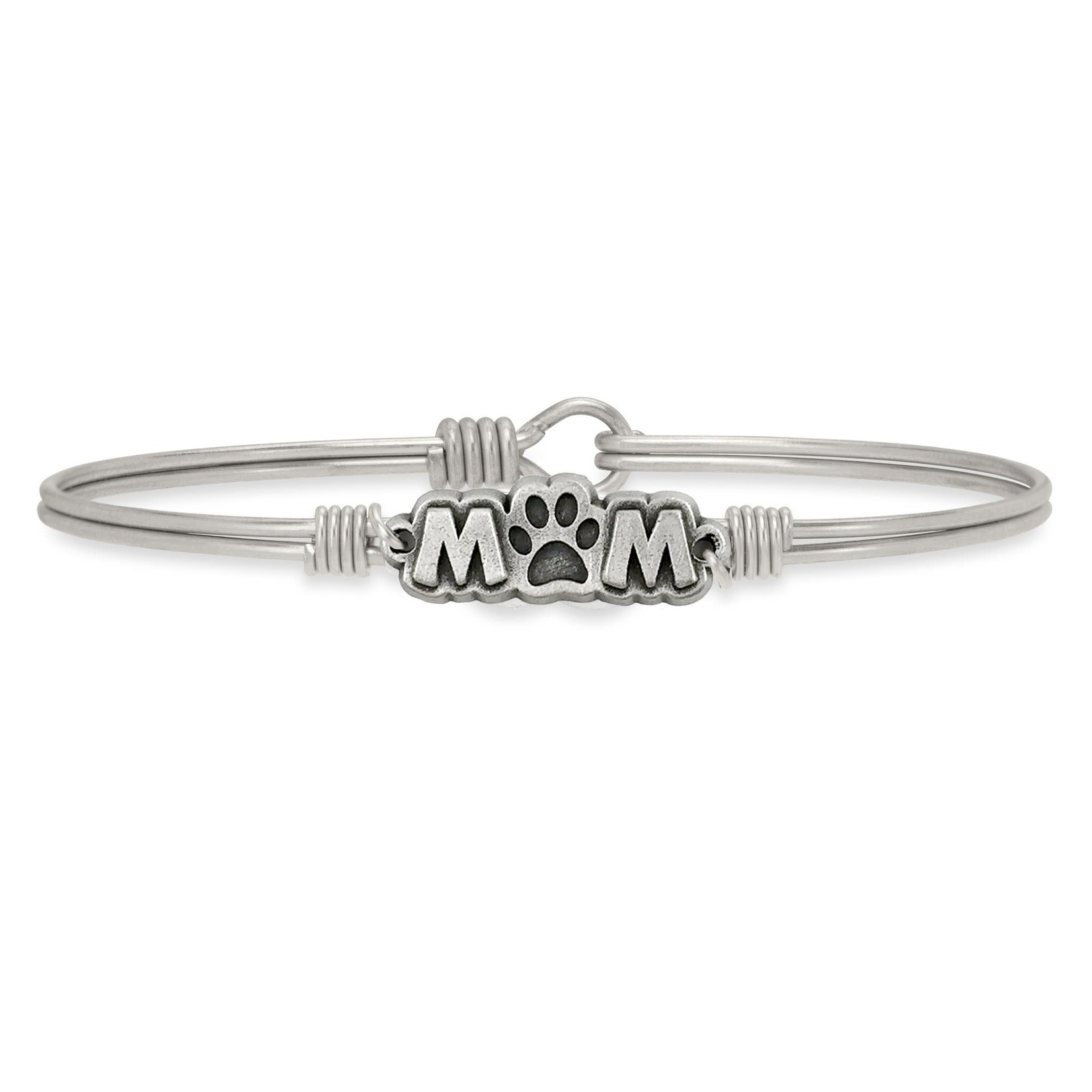 Luca+Danni Fur Mom Bangle Bracelet in Silver Tone/Petite