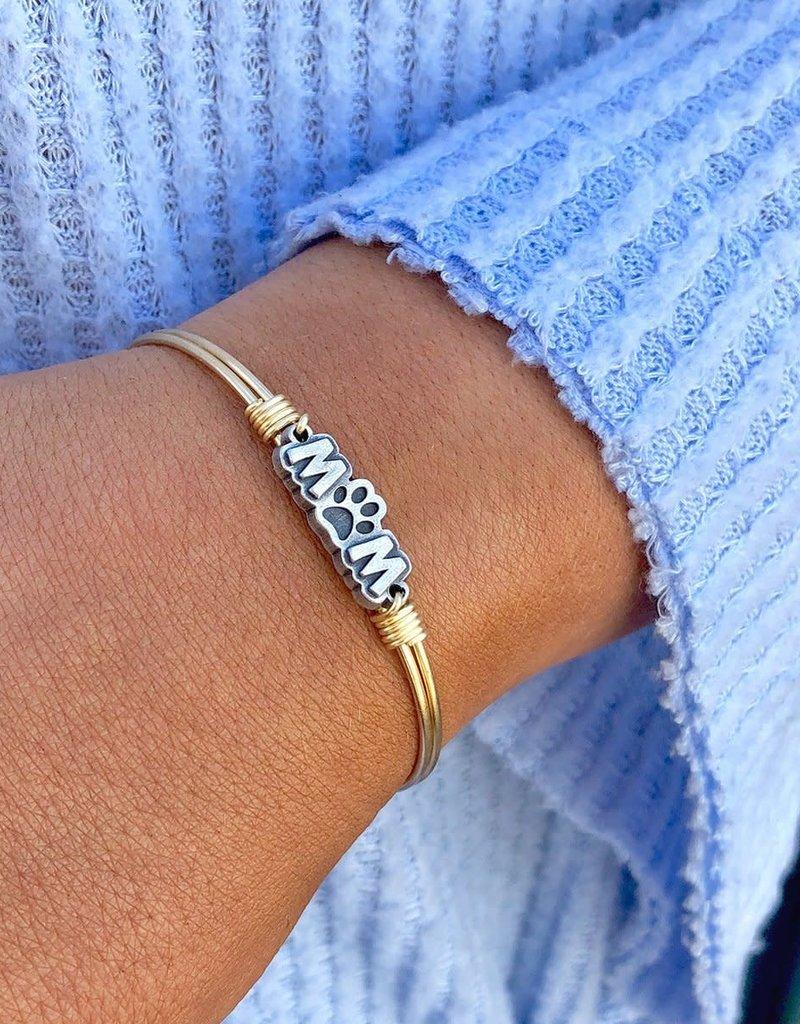 Luca+Danni Fur Mom Bangle Bracelet in Silver Tone/Petite