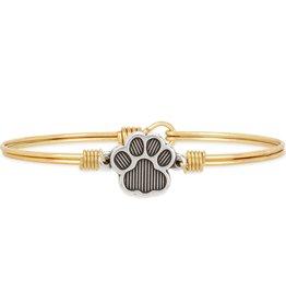 Luca+Danni Paw Print Bangle Bracelet in Brass/Regular