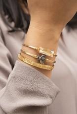 Luca+Danni Hudson Bangle Bracelet In Champagne/Silver Tone/Petite