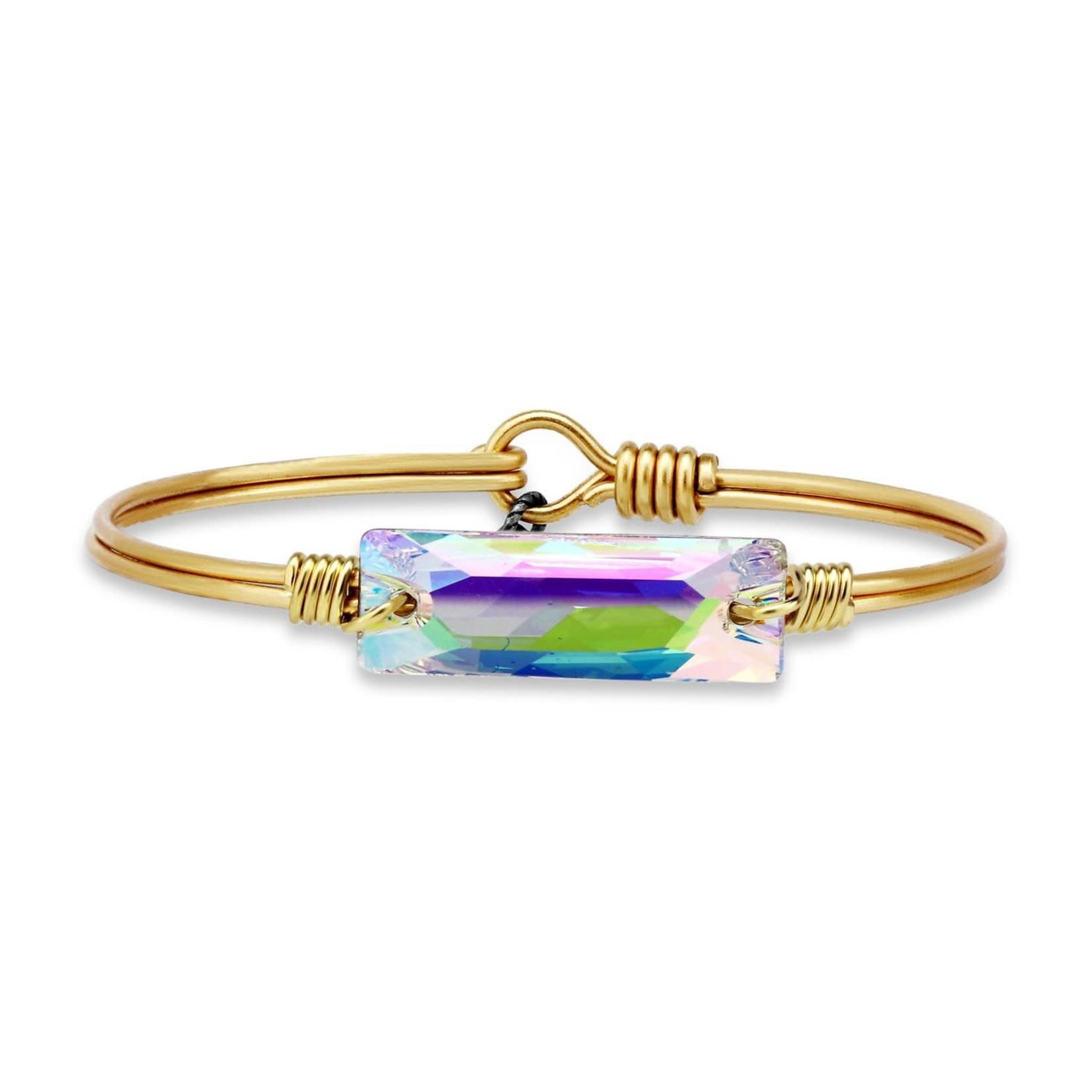 Luca+Danni Hudson Bangle Bracelet In Crystal AB/Brass Petite