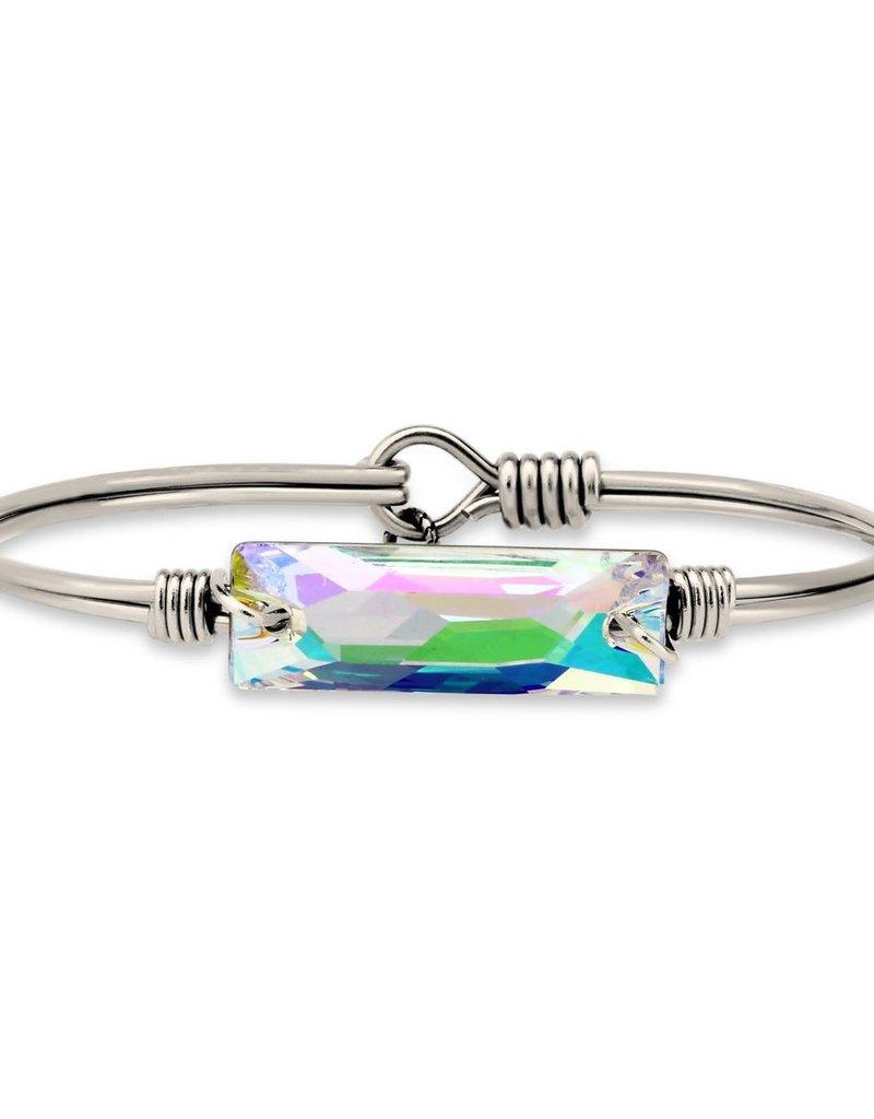 Luca+Danni Hudson Bangle Bracelet In Crystal AB/Silver Tone Petite