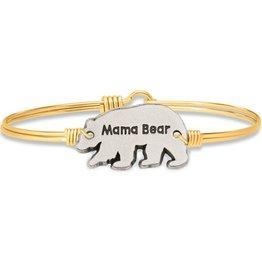 Luca+Danni Mama Bear Bangle Bracelet in Brass/Petite
