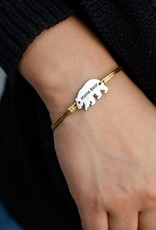 Luca+Danni Mama Bear Bangle Bracelet in Brass/Regular