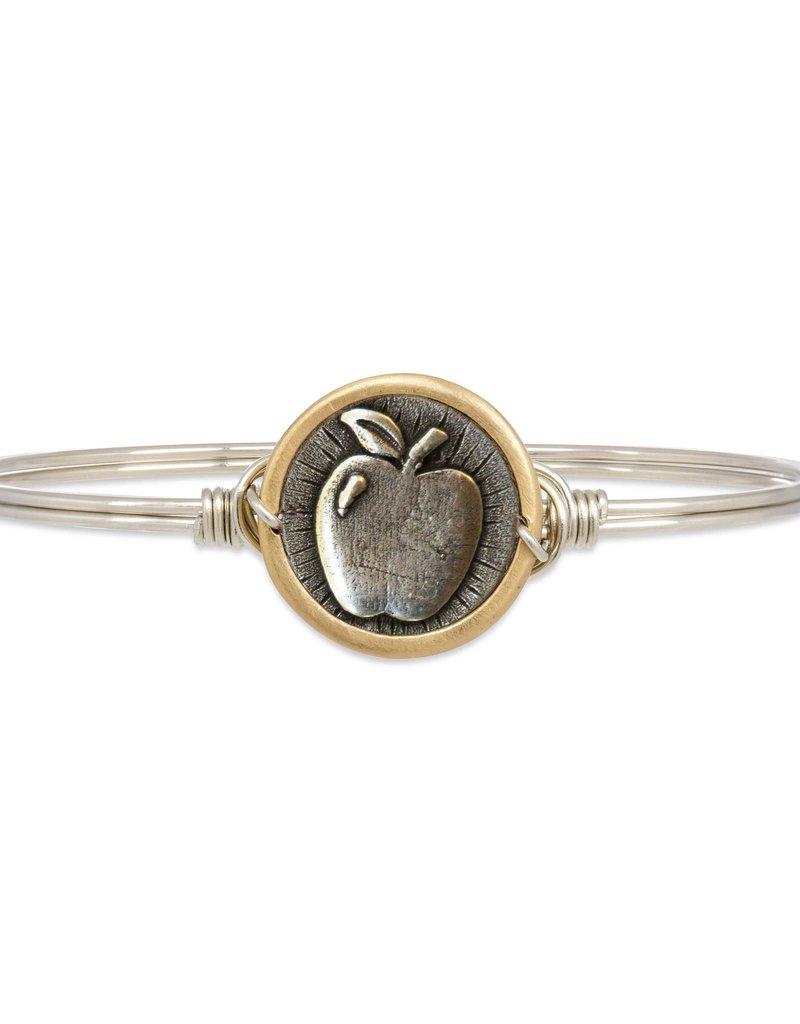 Luca+Danni Apple for Teacher Bangle Bracelet in Silver Tone/Regular