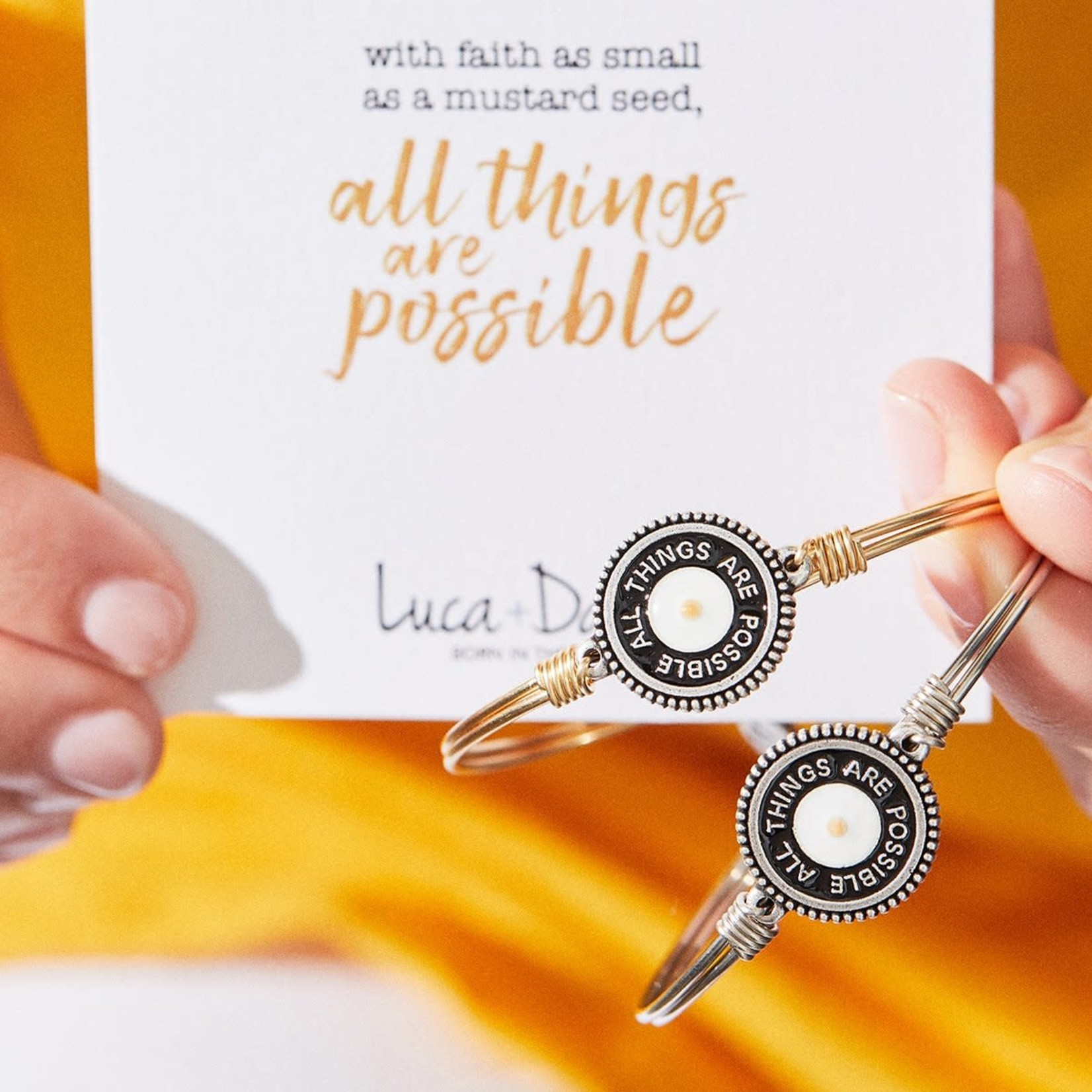 Luca+Danni Mustard Seed Bracelet in Silver Tone/Petite