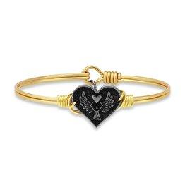 Luca+Danni Angel Heart Bracelet in Brass/Petite