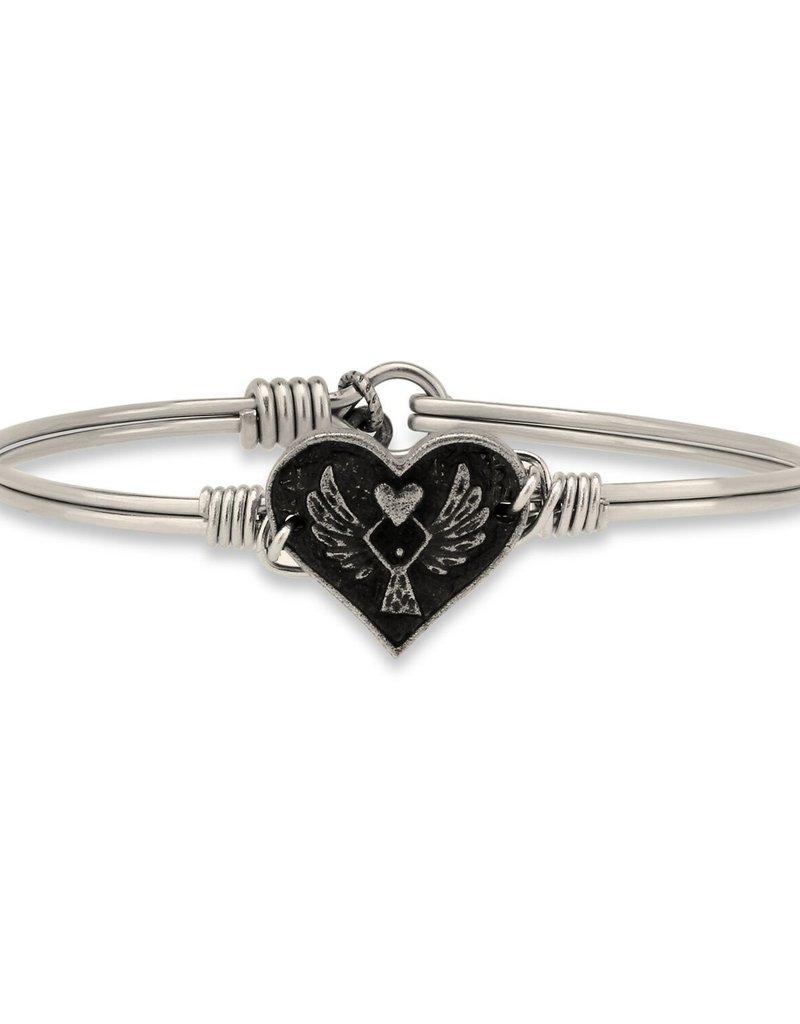 Luca+Danni Angel Heart Bracelet in Silver Tone/Petite