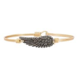 Luca+Danni Angel Wing Bangle Bracelet in Brass/Petite