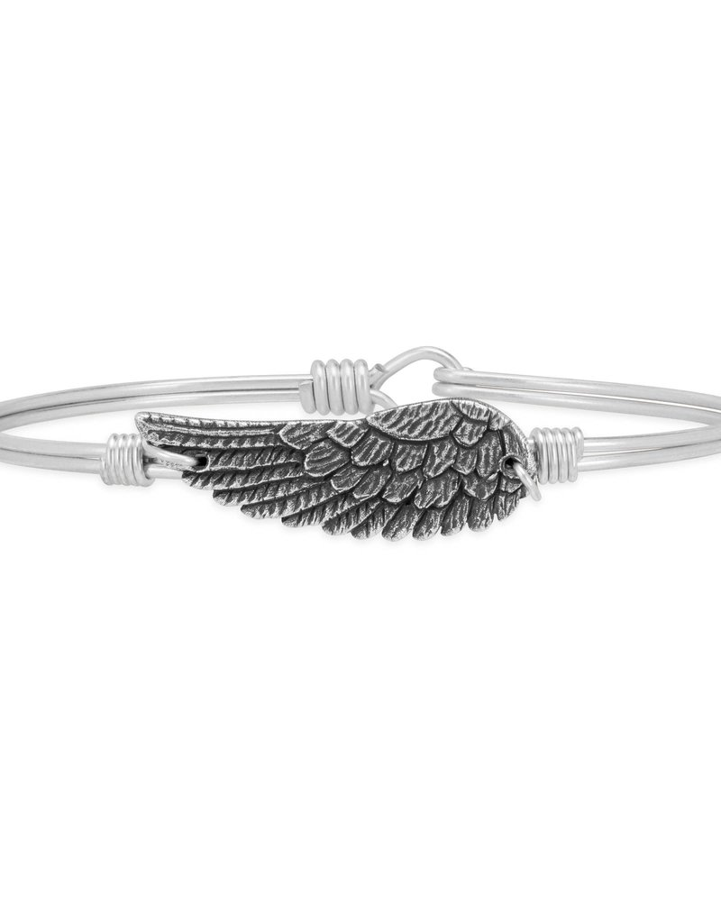 Luca+Danni Angel Wing Bangle Bracelet in Silver Tone/Petite