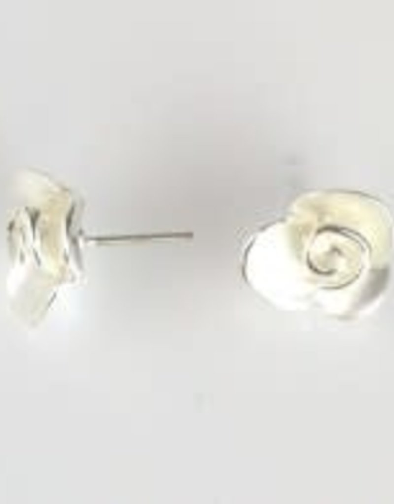 Flower Post Earrings in Silver