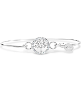 Tree of Life Pave' Icon Sterling Bracelet