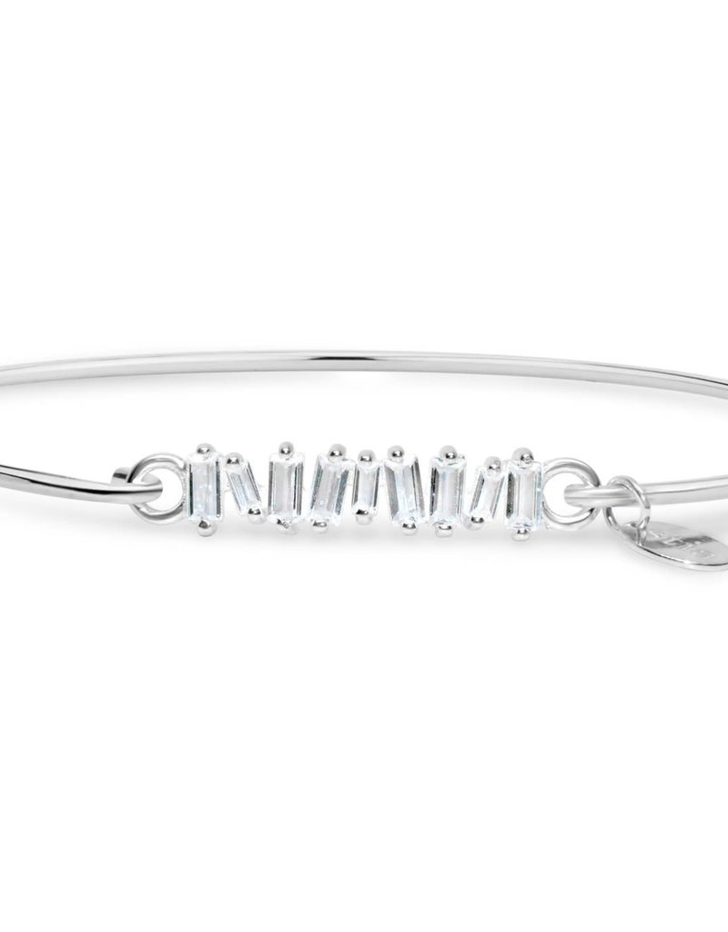 Jagged Baguette Pave' Icon Sterling Bracelet