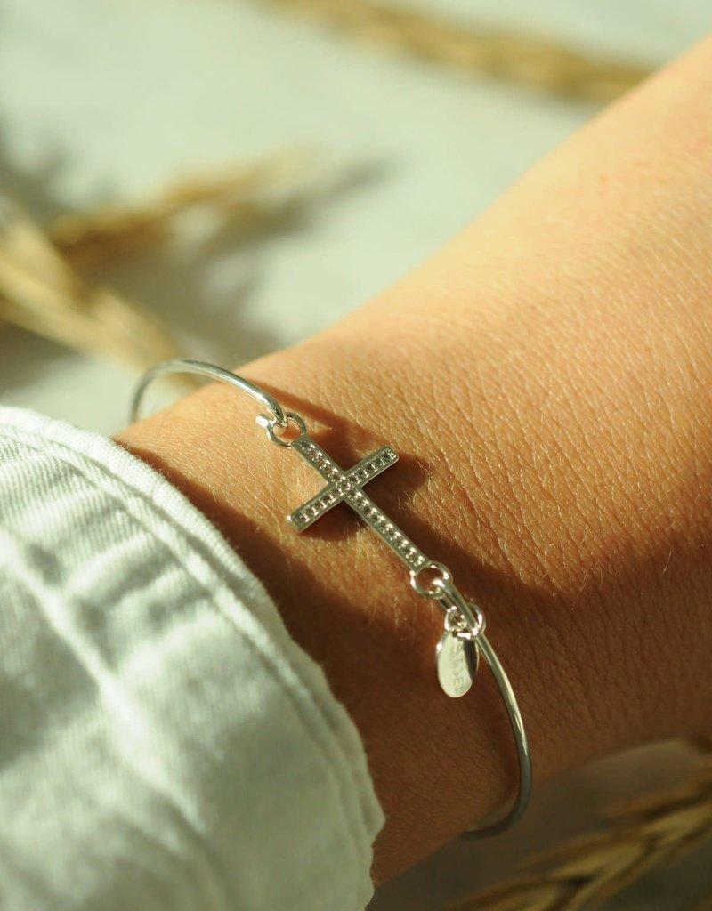 Cross Pave' Icon Sterling Bracelet