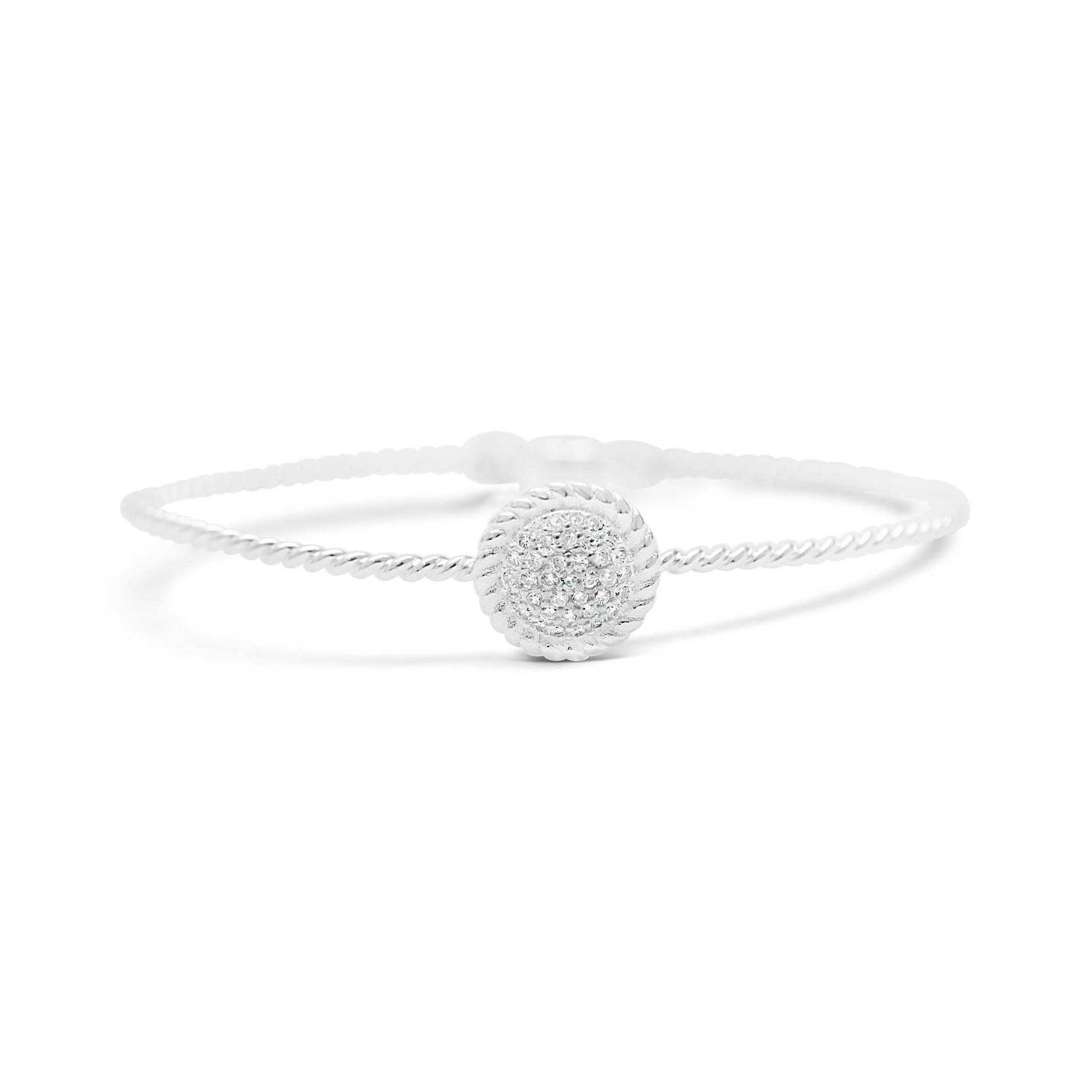 Disk Pave' Rope Bracelet w/Magnet Closure