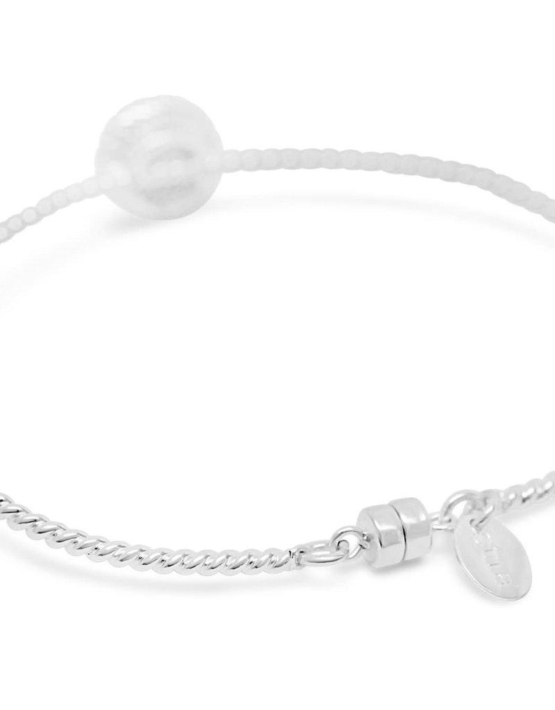 3 Stone CZ Rope Bracelet w/Magnetic Closure