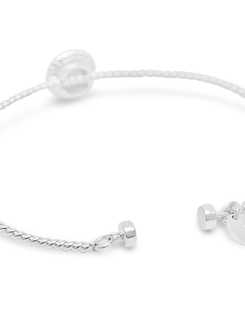 White Opal Rope Bracelet w/Magnetic Closure