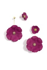 Flower Power Convertible Drop Earrings in Rose