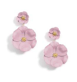 Flower Power Convertible Drop Earrings in Rose