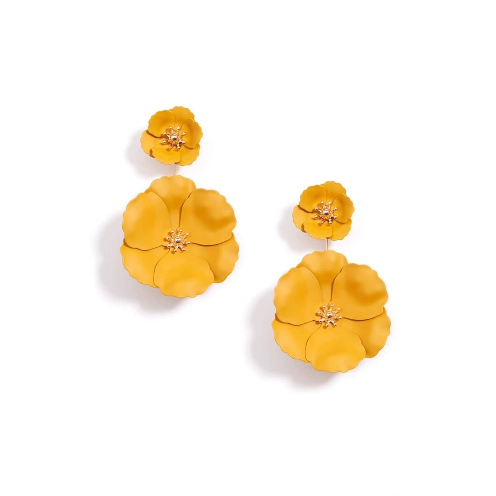 Flower Power Honey Metal Convertible Earrings w/18K Gold