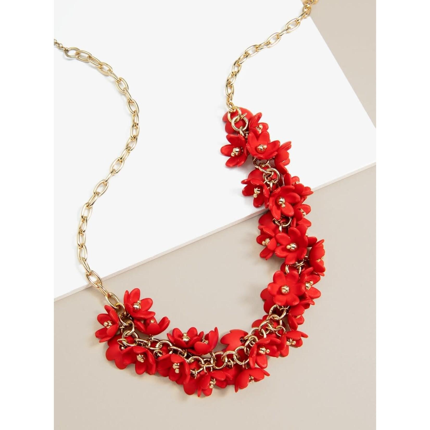 Petite Petals Collar Necklace in Flame