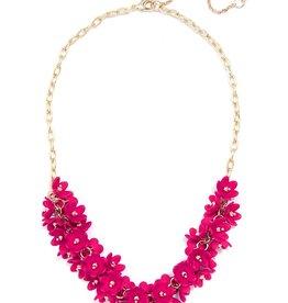Petite Petals Collar Necklace in Hot Pink