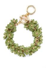 Petite Petals Bracelet in Green