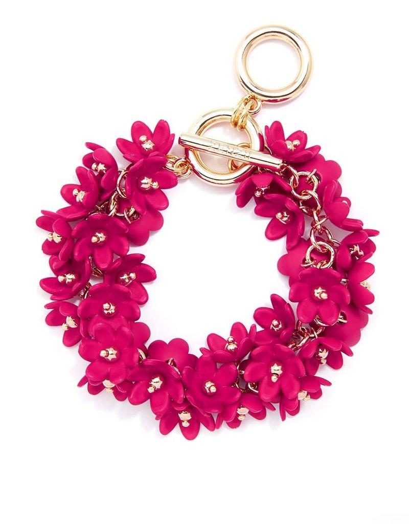 Petite Petals Bracelet in Hot Pink