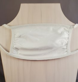 Solid White 3 Layer Fabric Mask