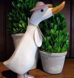 Dcuk Fancy White Bamboo Duckling w/Gold & Purple Hat
