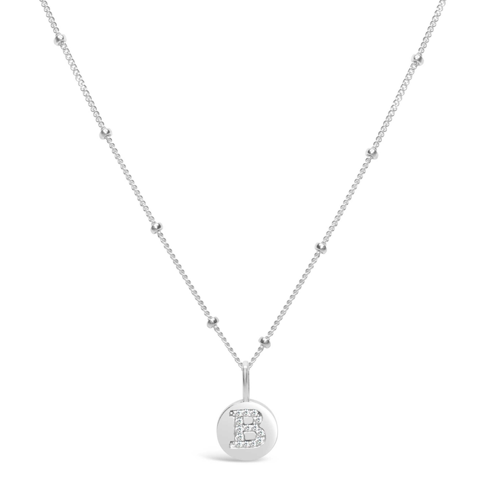 "Love Letter ""B"" Mini Disk Necklace"
