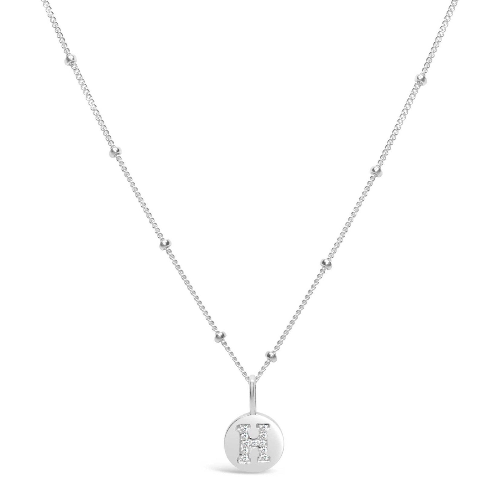 "Love Letter ""H"" Mini Disk Necklace"