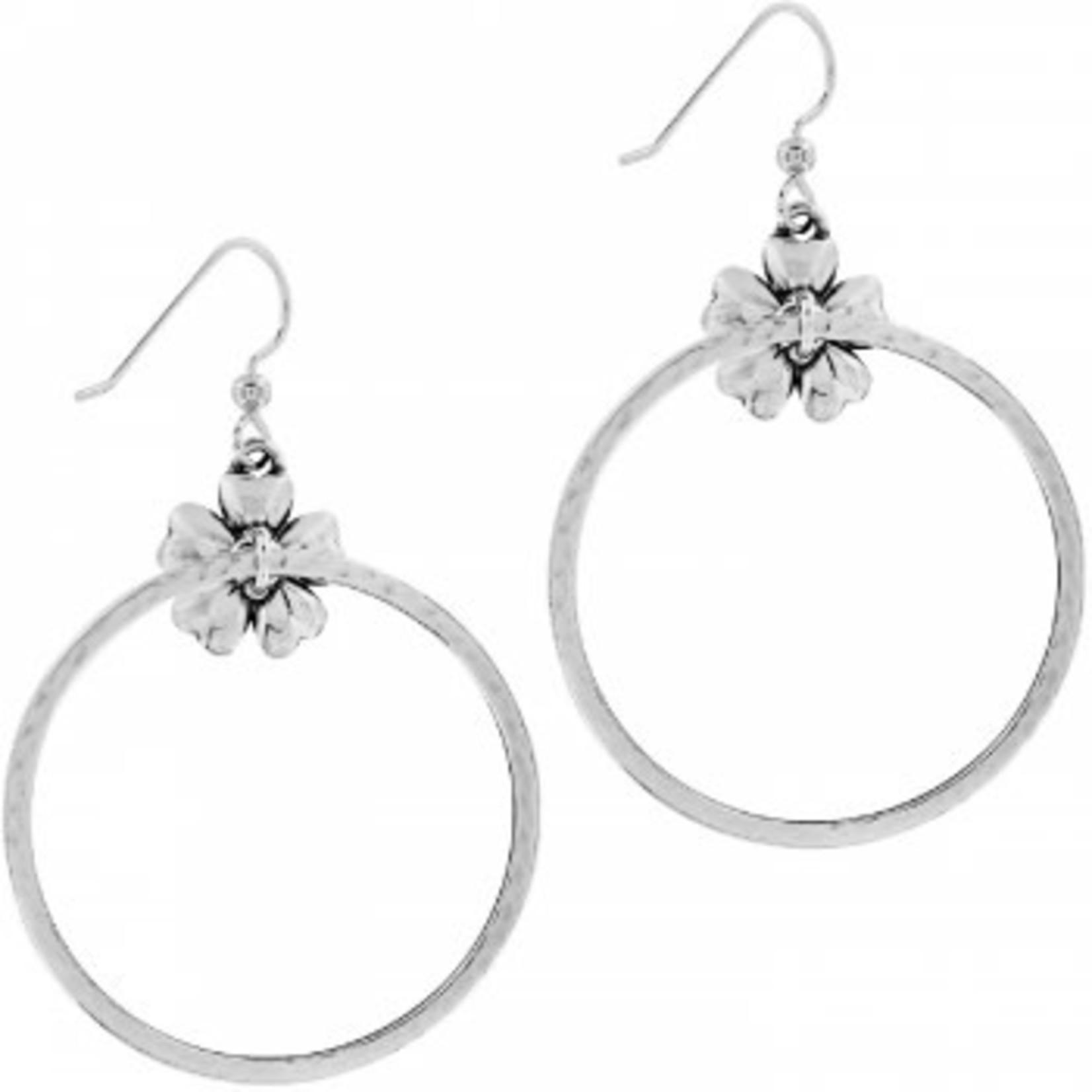 Brighton Flora French Wire Hoop Earrings