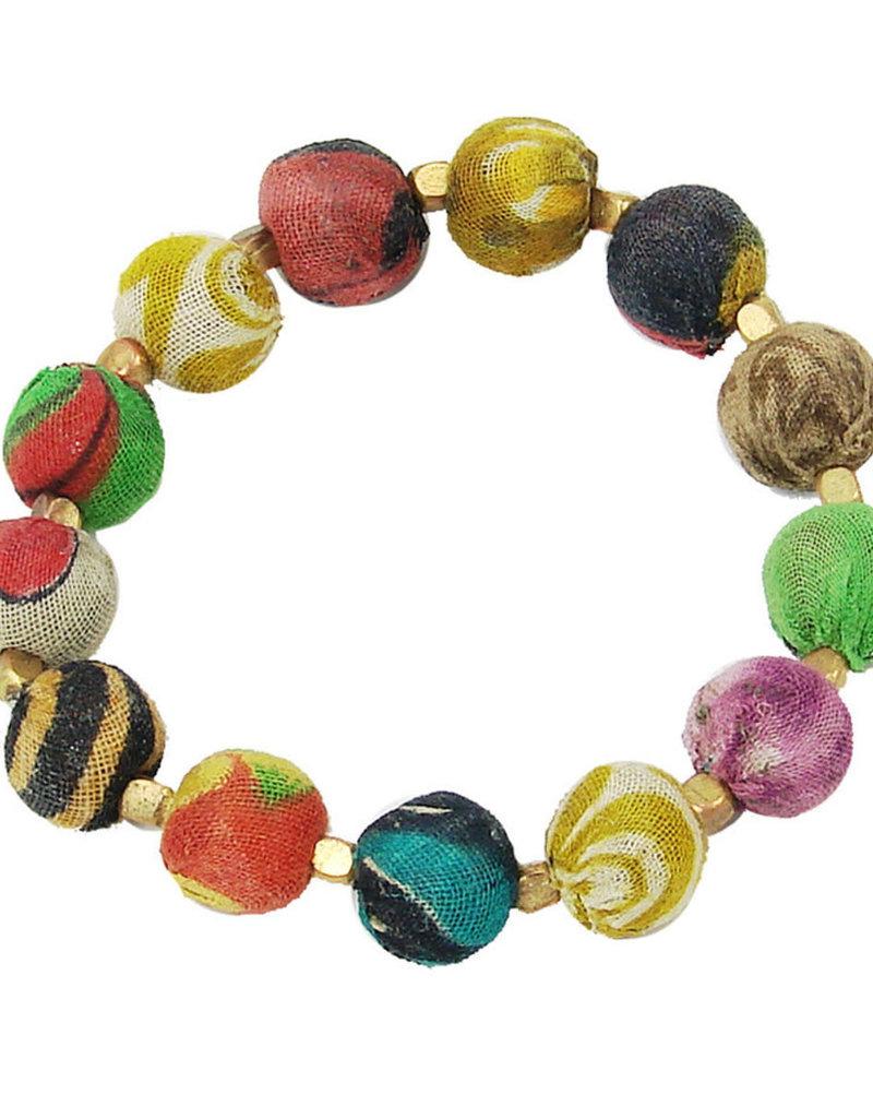 WorldFinds Kantha Small Bauble Bracelet