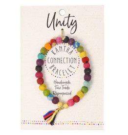 WorldFinds Bracelet/KanthaBeadsW/Tassel/Message Unity