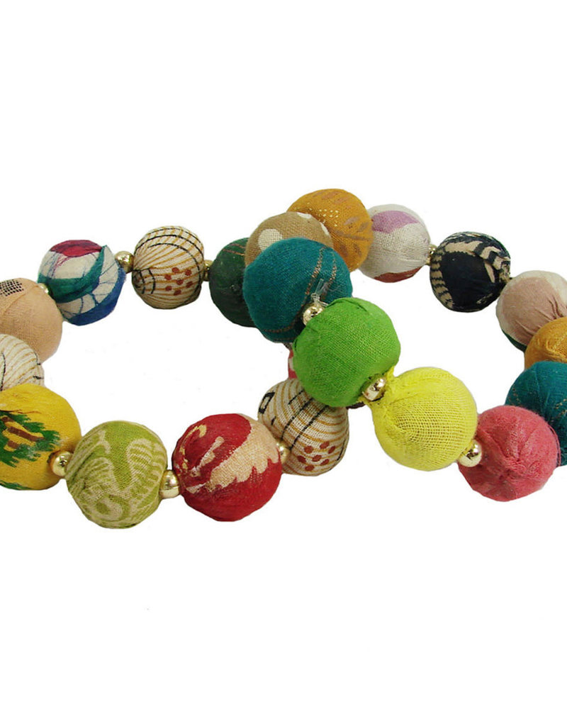 WorldFinds Kantha Large Bauble Bracelet