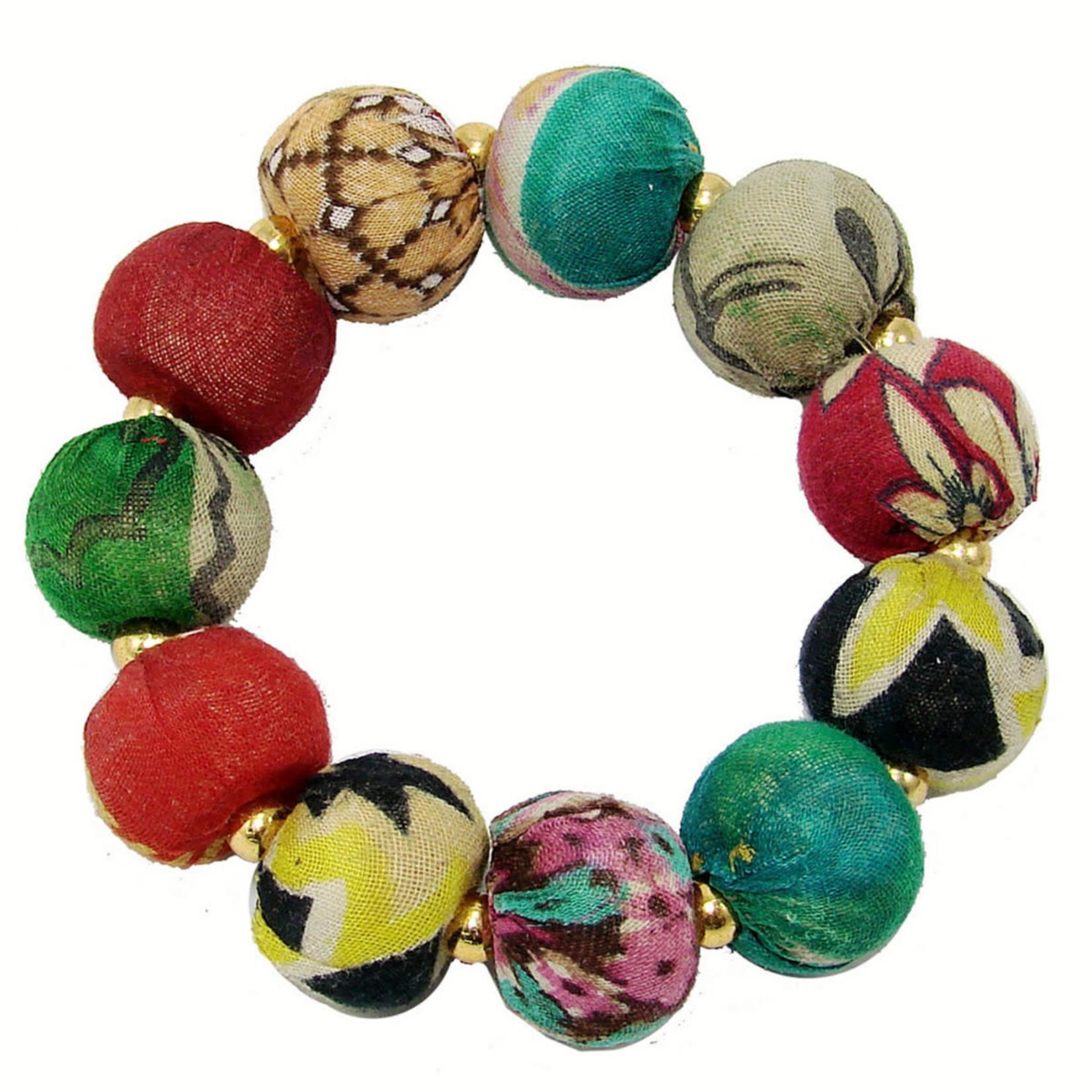 WorldFinds Kantha Large Bauble Bracelet