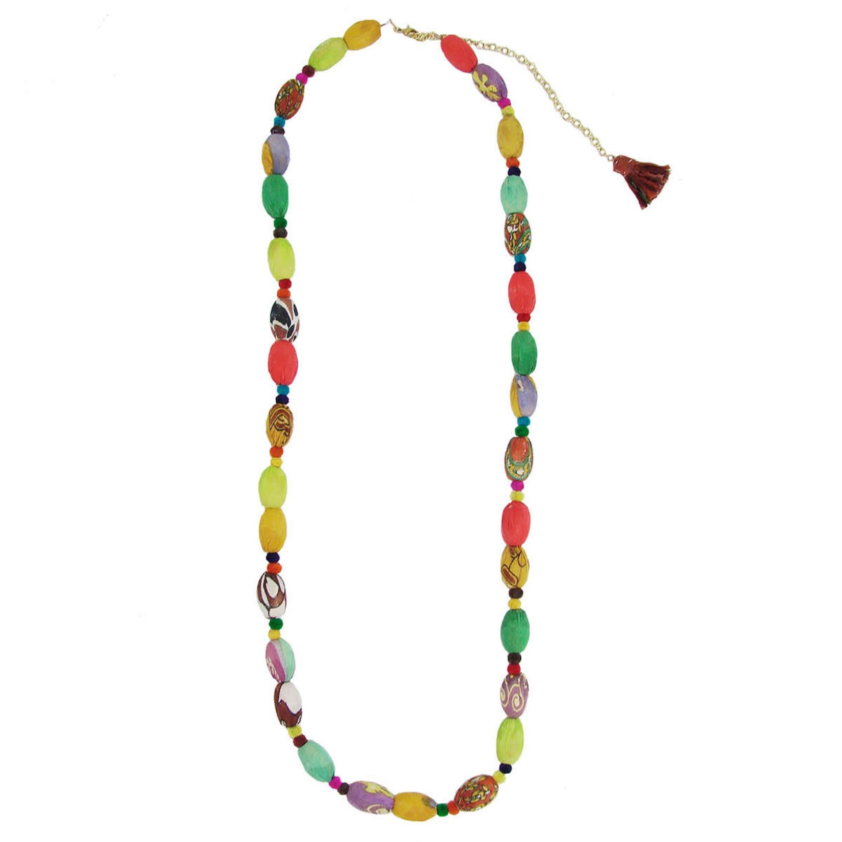 WorldFinds Kantha Kaleidoscope Necklace