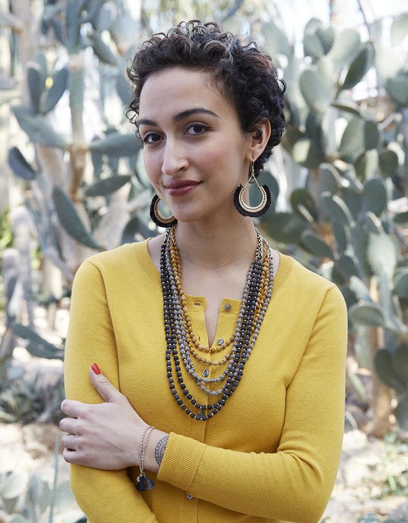WorldFinds Kantha Midnight Sun Necklace
