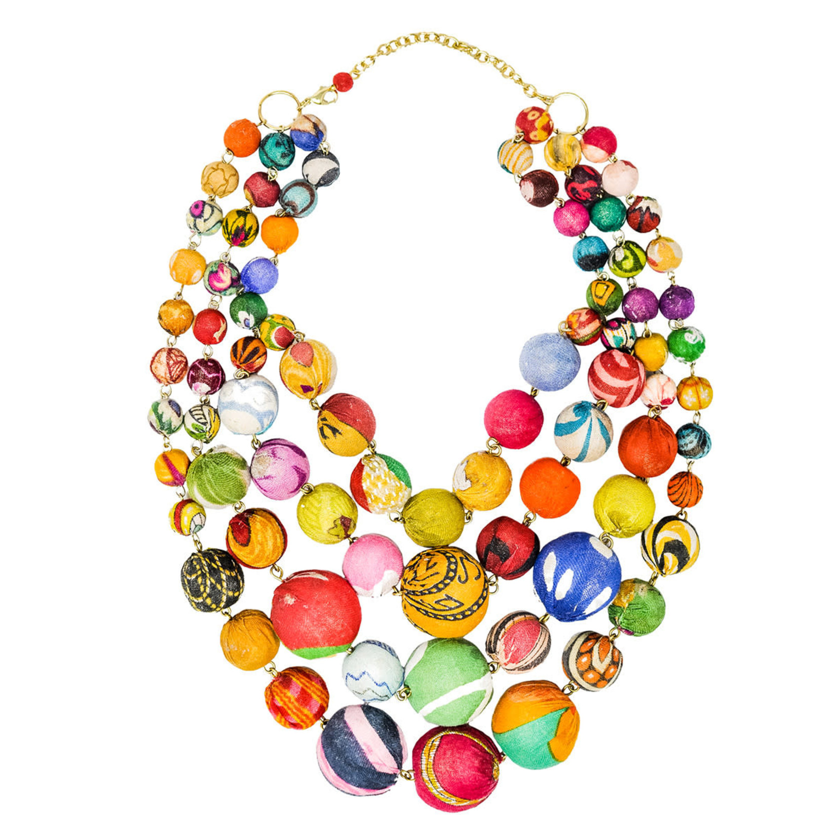 WorldFinds Kantha Orb Necklace