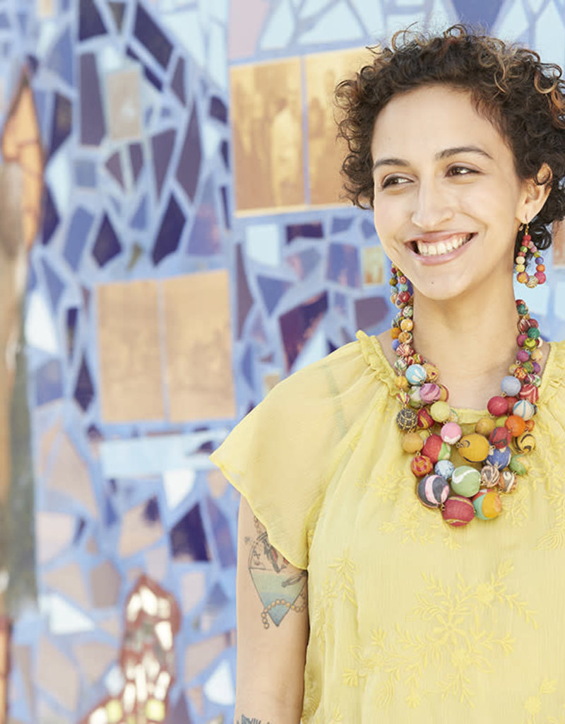 WorldFinds Kantha Orb Necklace
